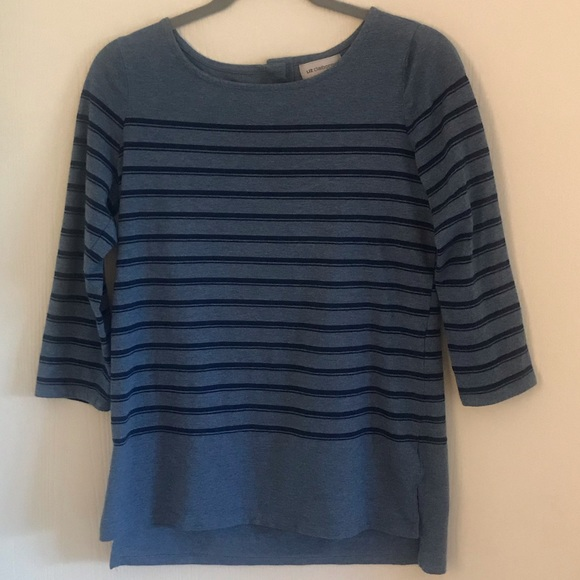 Liz Claiborne Tops - Liz Claiborne Blue Striped Top